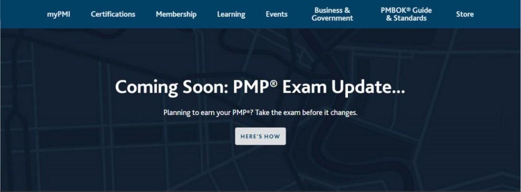 تغییر آزمون PMP